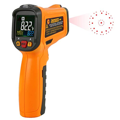 Infrared Thermometer, Non Contact Laser Thermometer Gun for Oven Kitchen Cooking BBQ Automotive Industrial, -58℉ ~ 1022℉ with LCD Display by Dinlly (Image #7)