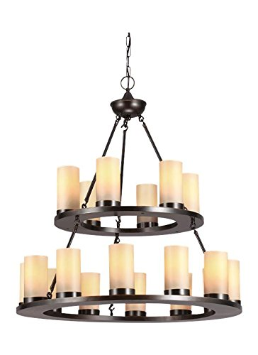 (Sea Gull Lighting 31585EN3-710 Eighteen Light Chandelier Burnt Sienna)
