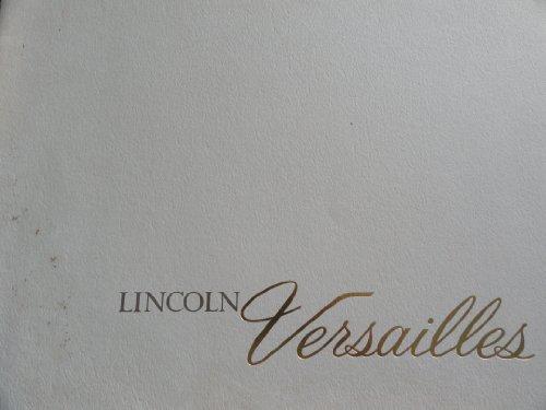 Original 1977 Lincoln Versailles Sales Brochure