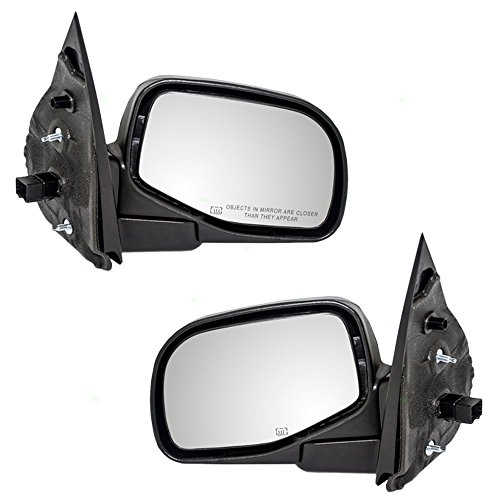 Driver and Passenger Power Side View Mirrors Heated Puddle Lamp Textured Replacement for Ford Mercury SUV 1L2Z17683CAA 1L2Z17682CAA AutoAndArt
