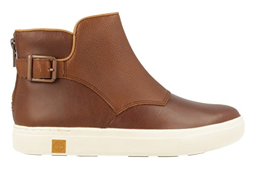 Timberland Womens Amherst Chelsea Leather Boots Braun