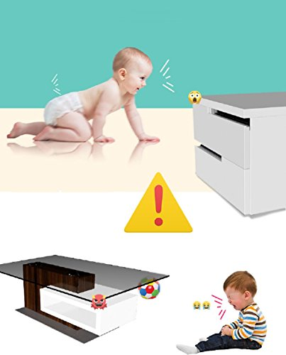 Corner Guards Baby Safety Proofing Child Proof Edge Cushion Clear Corner Protectors for Furniture Tables & Sharp Corners 20 Pack (Transparent) by BOBKY (Image #1)
