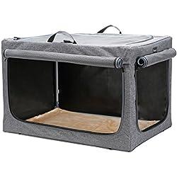 "Petsfit Portable Soft Large Dog Crate Travle Dog Crate Medium to Large Dog Soft Sided Pet Crate Grey 36"" LX 24"" WX 23"" H"