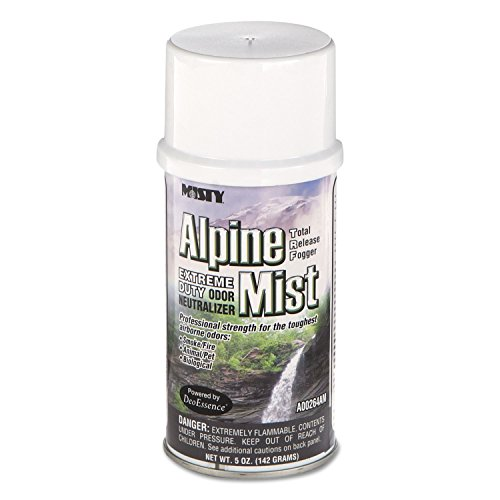 Misty 1039402 Odor Neutralizer Fogger, Alpine Mist, 5oz, Aerosol, 12/Carton