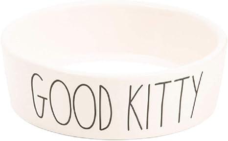White Good Kitty Rae Dunn 5 Ceramic Cat Bowl