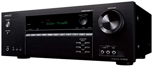 Onkyo TX-SR343 5.1-Ch. 4K Ultra HD and 3D Pass-Through A/V Home Theater Receiver Black