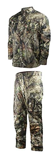 Scent Blocker Trinity Featherlite Pant & Shirt Suit, Mossy Oak Break-Up Country, Medium (Scent Blocker Ripstop)