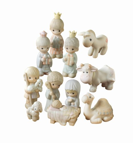Precious Moments Mini Nativity Series, Set/11 Mini Nativity Figurines by Precious Moments