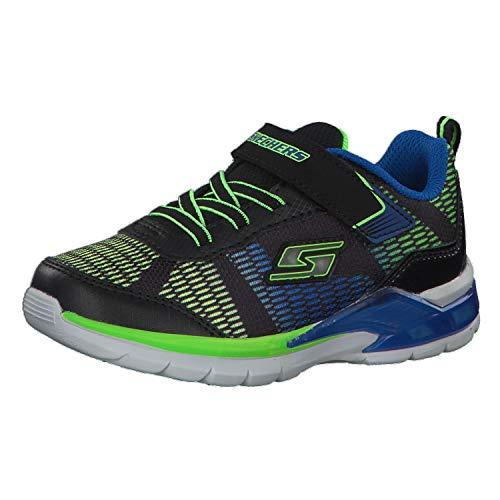 buy online 92c76 5b399 Skechers S Lights Erupters II Lava Waves Boys Sneakers Black Blue Lime 9