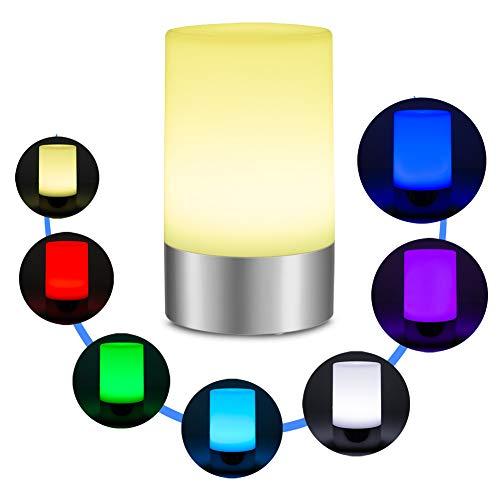 Vongem LED Rechargeable Table Lamps, Bedside Desk Lamps, Nightstand Lamps with Remote Control USB Port Lights for Home, Livingroom,Outdoor, Hotel, Bedroom, Restaurant, Bar, KTV (Multi-Color)