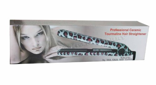 RoyalCraft TM Leopard Print Professional Hair Straightening Flat Iron Brand New In Box.