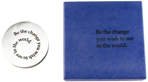 Vilmain Be The Change Pewter Paperweight