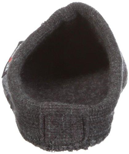 Haflinger Alaska 611001 - Zapatillas de casa de tela unisex Gris (Grau (graphit 77))