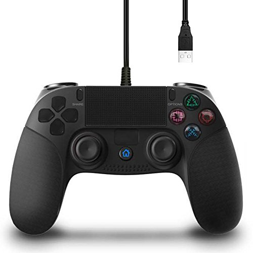 Dual Vibration Shock PS4 Wired Controller, Professional USB PS4 Wired Gamepad for Playstation 4/PS4 Slim/PS4 Pro Support Monster Hunter World Etc.