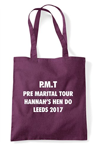 Hen Parody Do Marital Pre Plum Party Customised Tote Shopper Personalised Bag qxwrIqPYn