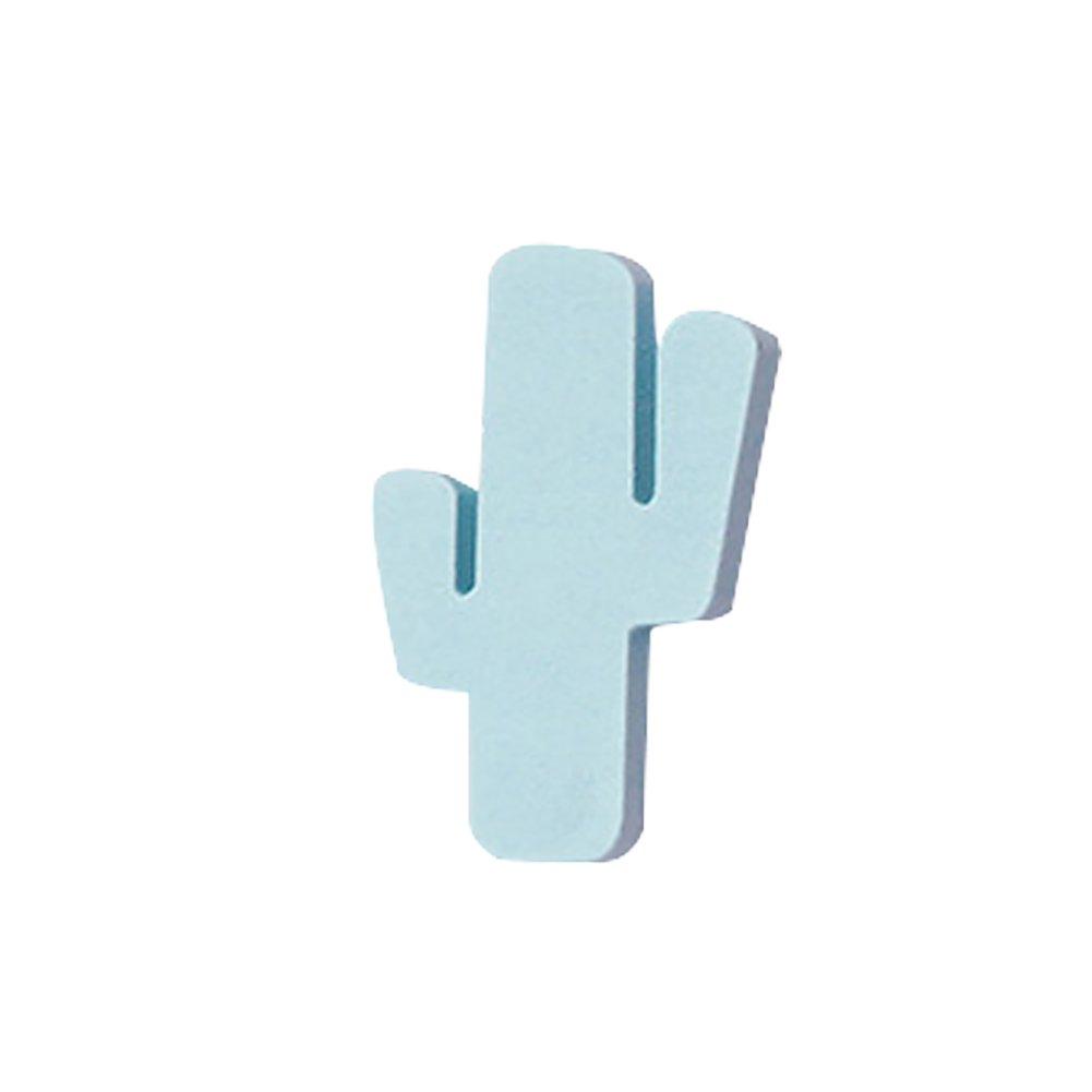 WFZ17 - Colgador de madera con diseñ o de cactus talla ú nica blanco