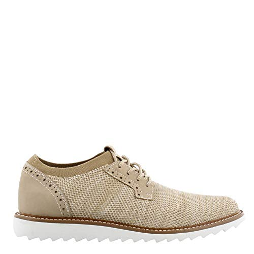 Dockers Men's Einstein Knit/Leather Smart Series Dress Casual Oxford with NeverWet Oatmeal Marbeled Knit/Nubuck 8.5 D US