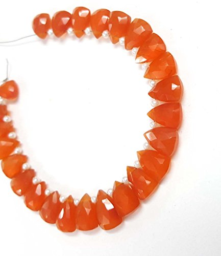 AAA natural Carnelian Faceted Triangle Shape Briolettes Beads 20 pecs ()