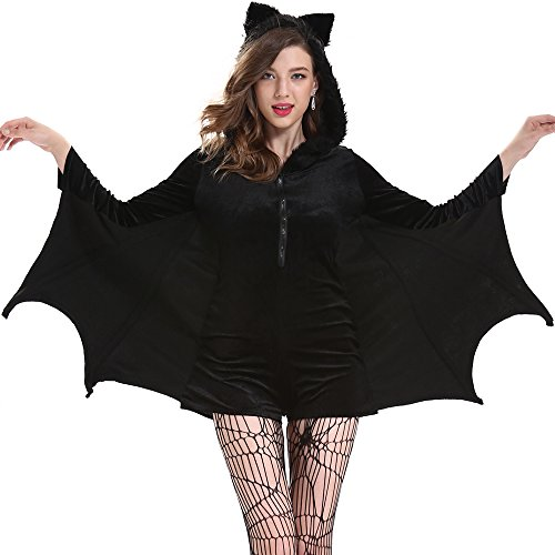 SVANCE Adult Halloween Party Funny Costumes Clothing for Womens and Sexy Girls,Small-Plus Size. (4XL(CN), bats)