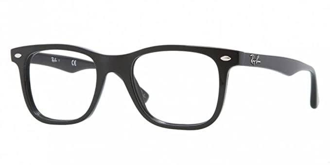 6c3bb4b1cb Image Unavailable. Image not available for. Color  Ray-Ban Men s RX5248  Eyeglasses Shiny Black 49mm