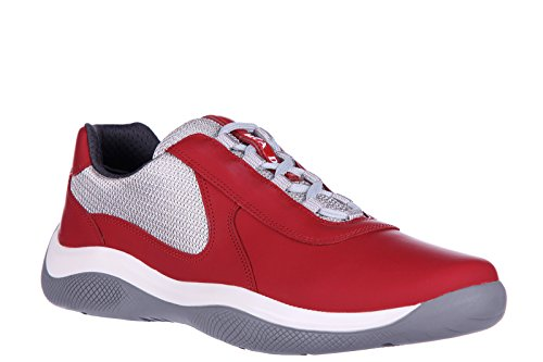 Prada-mens-shoes-leather-trainers-sneakers-nevada-red