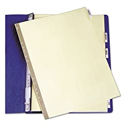 Avery-Dennison 11730 Insertable Clear Tab Dividers For Data Binders44; 6-Tab44; 11 x 9.5