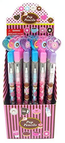 TINYMILLS 24 Pcs Donuts Multi Point Pencils ()