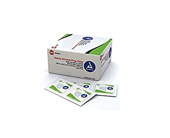 Dynarex Alcohol Prep Pad, Sterile, Medium (Box of 200)