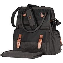 [Patrocinado] Zeni bolsa de pañales con cambiador, multifunción, impermeable duradero (carbón)