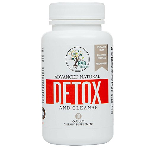 Natural Colon Cleanse & Detox, 15 day - Energy Boost - Rapid Weight Loss Advanced Formula. 30 capsules. RMB Naturals