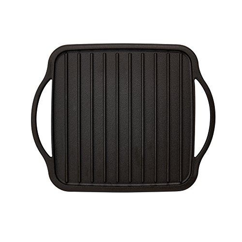 Sabatier Pre-Seasoned Rust Resistant Cast Iron Single Reversible Grill/Griddle, 10-Inch