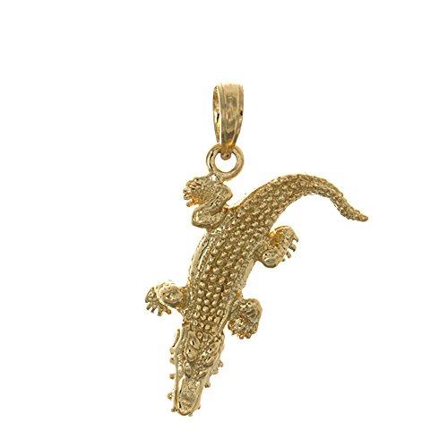 14k Gold Alligator Charm - 9