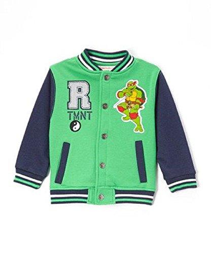 Tmnt Boy's Contrast Sleeves Stadium Jacket Raphael 3T Green