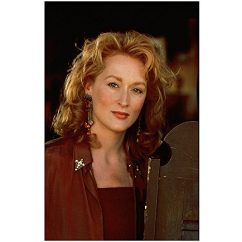 Meryl Streep Country Girl Wearing Dangle Earrings and Wingtips 8 x 10 Photo
