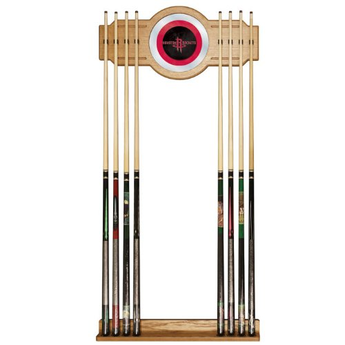 Trademark Gameroom NBA Houston Rockets Billiard Cue Rack with Mirror