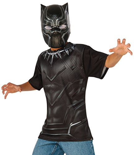 Rubie's Costume Captain America: Civil War Black Panther Child Top and Mask, Large (Black Widow Cosplay Costume)