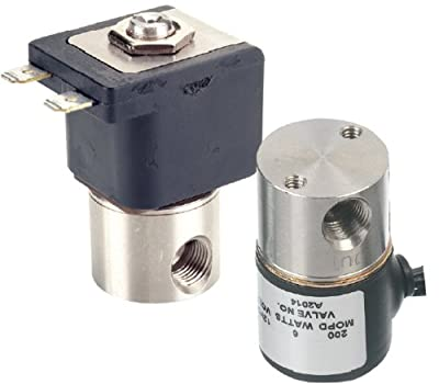 "Gems Sensors A2017-C204 303 Stainless Steel General Purpose Solenoid Valve, 50 psig Pressure, 0.3 Cv, 5/32"" Orifice, 24 VDC Voltage from Gems Sensors & Controls"