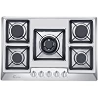 Empava 30 Stainless Steel 5 Italy Sabaf Burners Stove Top Gas Cooktop EMPV-30GC0A2