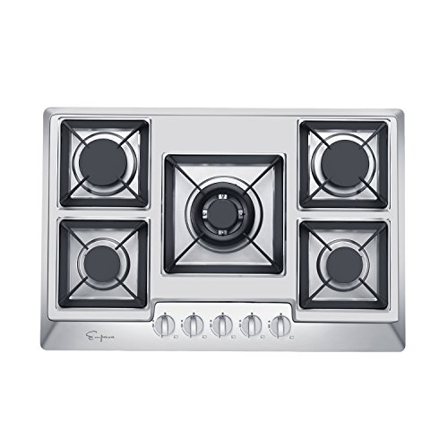 "Empava 30"" Stainless Steel 5 Italy Sabaf Burners Stove Top G"
