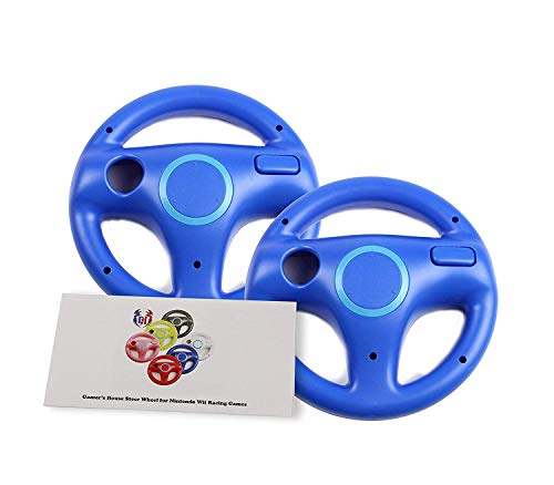 - GH 2 Pack Wii Steering Wheel for Mario Kart 8 and Other Nintendo Remote Driving Games, Wii (U) Racing Wheel for Remote Plus Controller - Kinopio Blue (6 Colors Available)