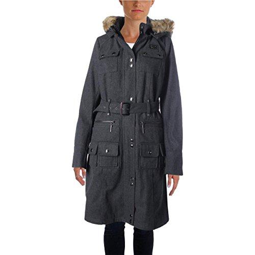 Rocawear Womens Wool Heathered Coat Gray (Heathered Wool Jacket)