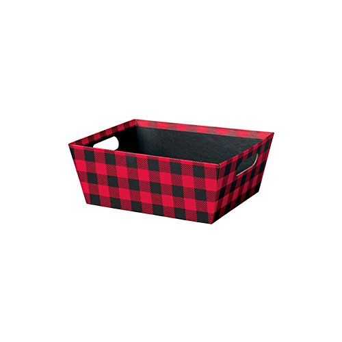 Creative Bag, Festive Market Trays, 12x9.5x4.5'', Christmas Plaid, 48ct, Merchandise, Retail, Party, Boutique, Gift, Bulk, Notion, Christmas, Holiday by Creative Bag