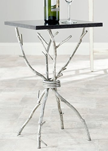 Brass Side Table (Safavieh Home Collection Alexa Black and Silver Alexa Accent)