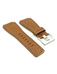 DASSARI Boulder Brown Alligator Leather Watch Band for Bell & Ross size 24mm