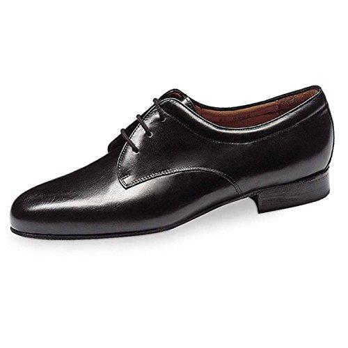 Werner Kern Hombres Zapatos de Baile 28012 - Cuero Negro - 2 cm Ballroom