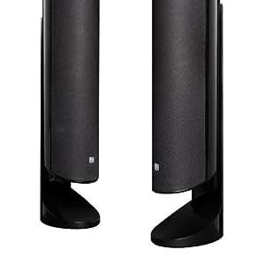kef kht5005deskstbl desk stand for kht5005 speaker system gloss black home audio. Black Bedroom Furniture Sets. Home Design Ideas