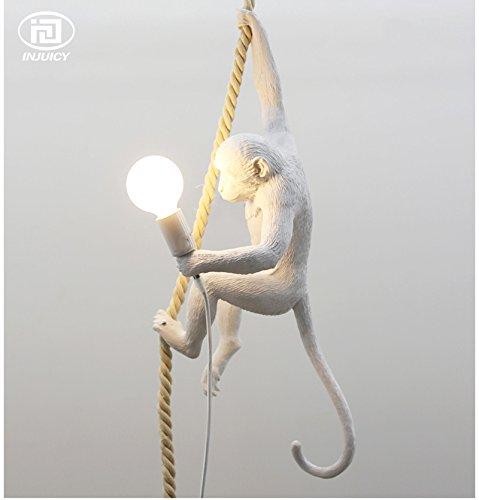 Injuicy Lighting Loft Vintage Resin Hemp Rope Monkey Pendant Lights Fixture Industrial Retro E27 Edison Ceiling Pendant Lamp Single Light for Dining Living Room Children's Bedroom Bar Cafe Gift by IJ INJUICY (Image #2)