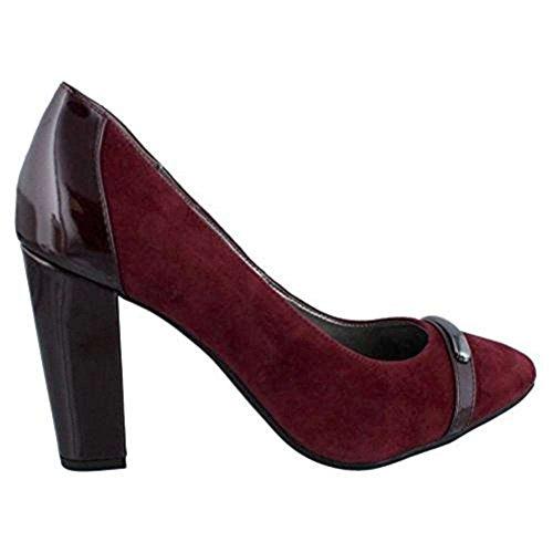 Bandolino Women's, Everley High Heel Pumps Burgundy Suede 8.5 M