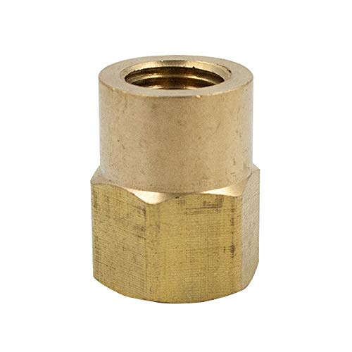 Legines Brass Inverted Flare Fitting,Legines Brass Straight Inverted Flare Female Brake Line Adapter Fitting, Female Connector, 3/8