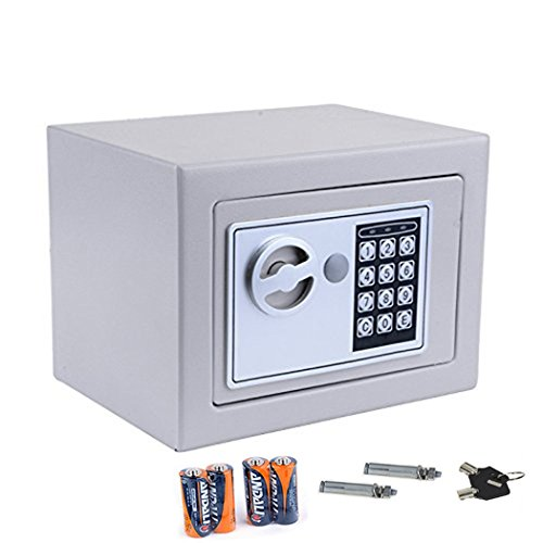 FDegage Electronic Security Safe Box with Deadbolt Lock for Gun Cash Jewelry Valuable Office Wall Anchoring Design